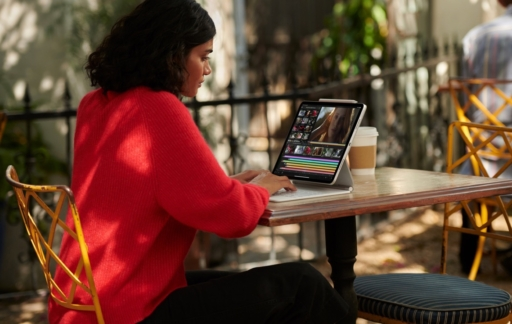 iPad Pro met wit Magic Keyboard