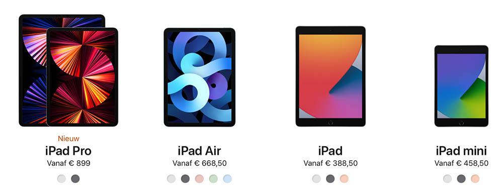 iPad kopen line-up 2021