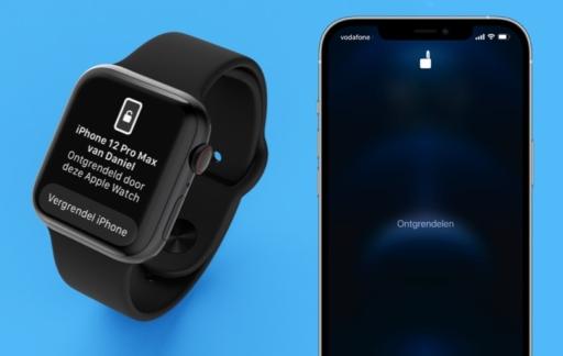 iPhone en Apple Watch: ontgrendelen met mondkapje