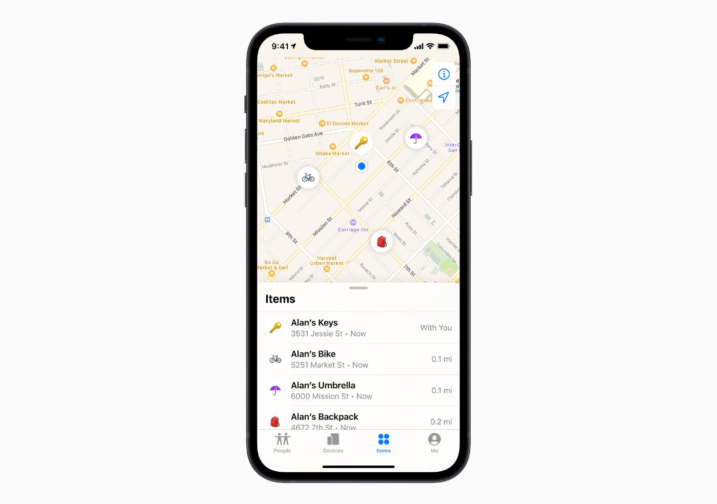 Zoek mijn app met AirTag