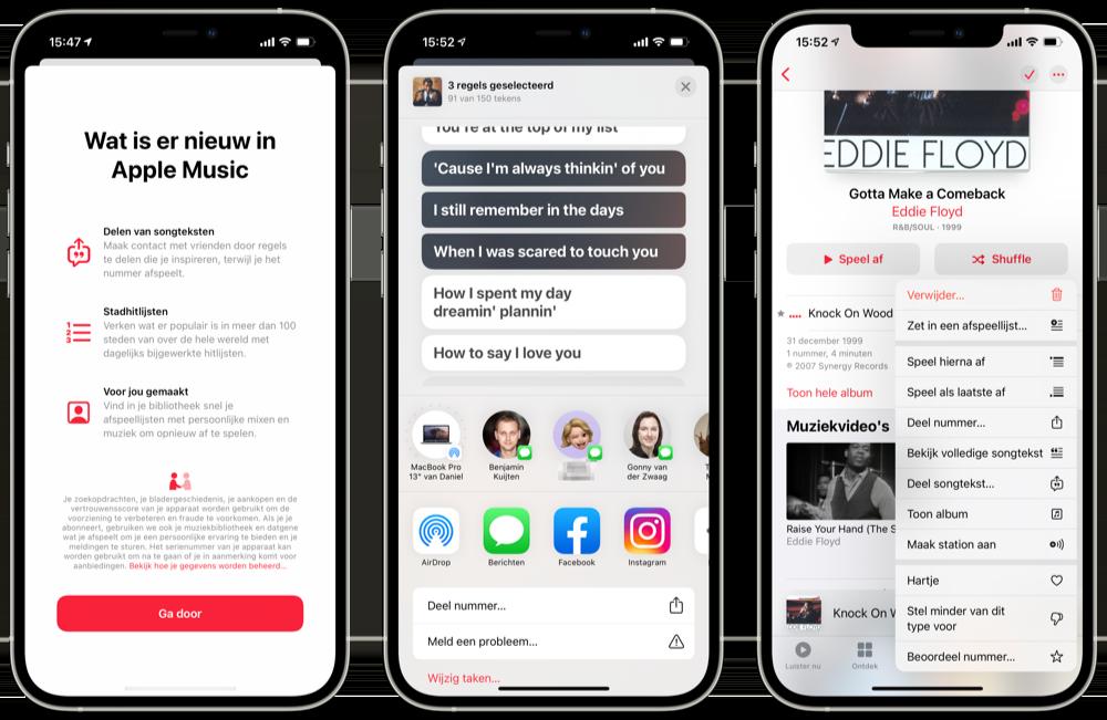 Muziek-app vernieuwingen iOS 14.5