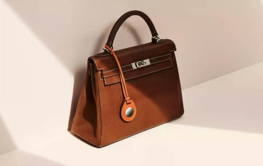 Hermes-tas met AirTag