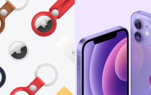 Pre-order AirTag en iPhone 12 in paars.