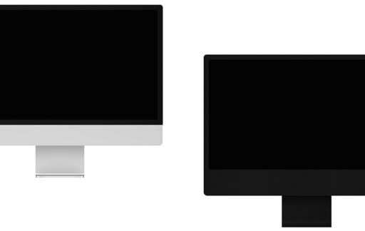 Zwarte iMac 2021