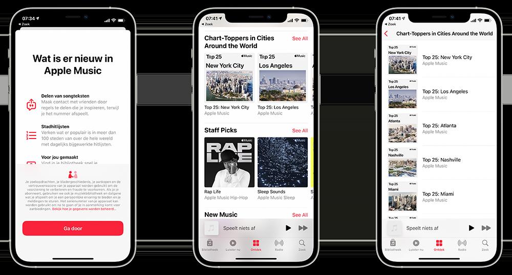 Apple Music hitlijsten per stad