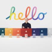 Tim Cook met iMac 2021
