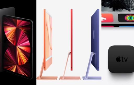 iPad Pro 2021, iMac 2021 en Apple TV 4K 2021.