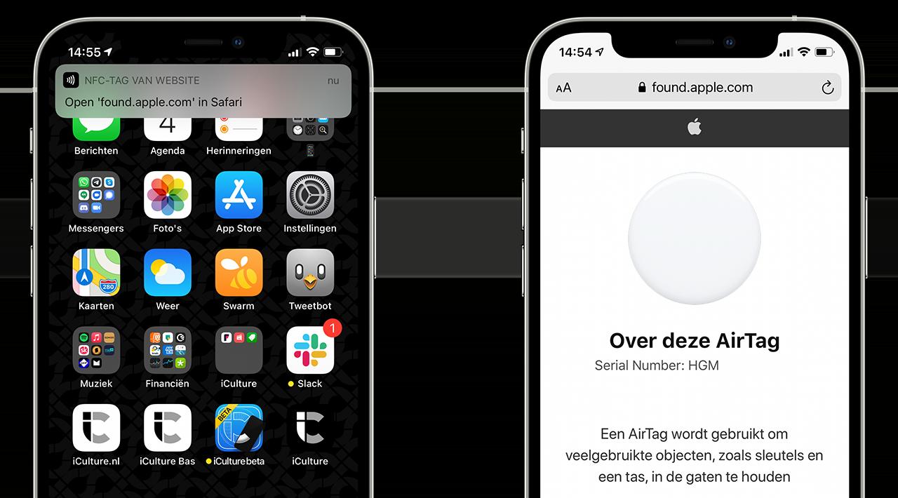 AirTag serienummer via NFC opvragen