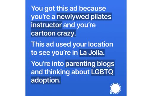 Signal reclame pilates