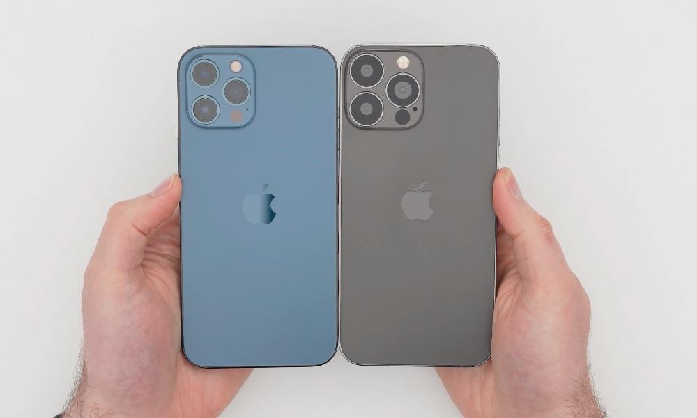 Dummy iPhone 13 Pro Max met achterkant en camera.