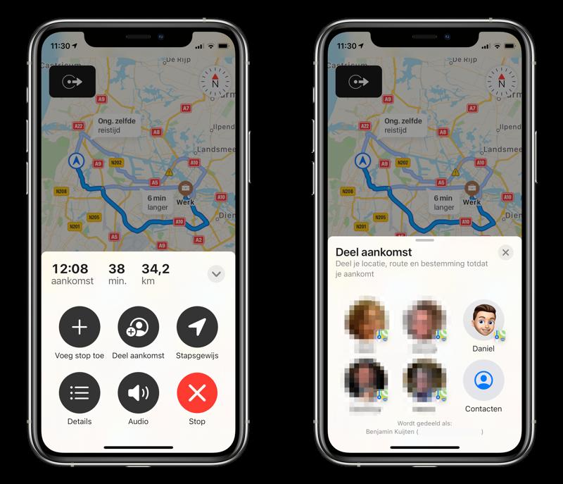 In Apple Kaarten je aankomsttijd delen in iOS 14.