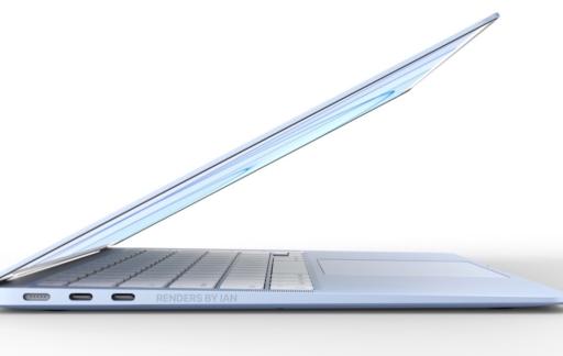 MacBook Air in het blauw (concept).
