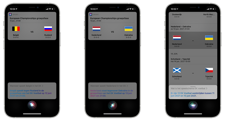 EK Voetbal Siri