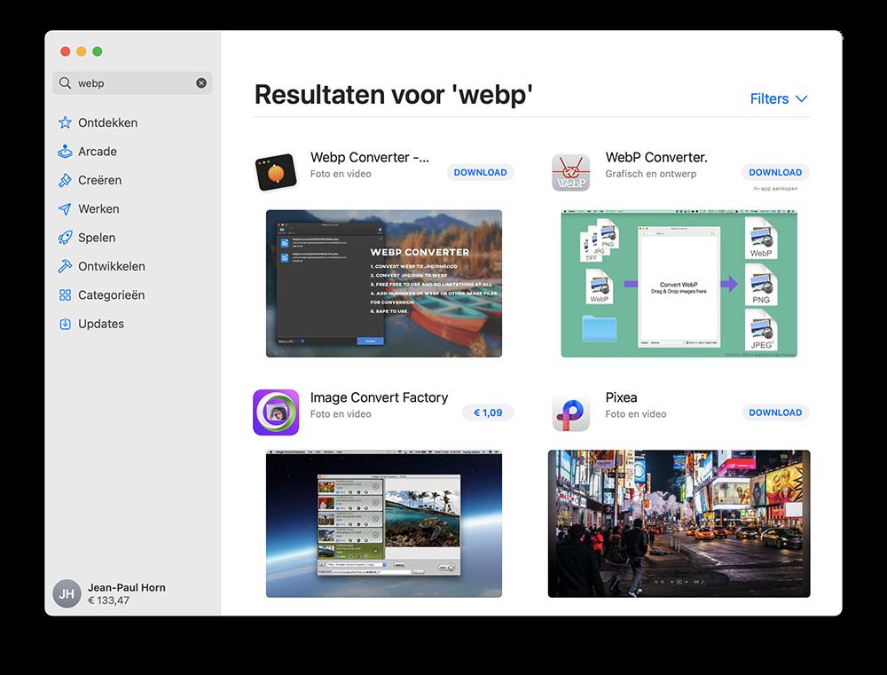 Software zoeken in Mac App Store