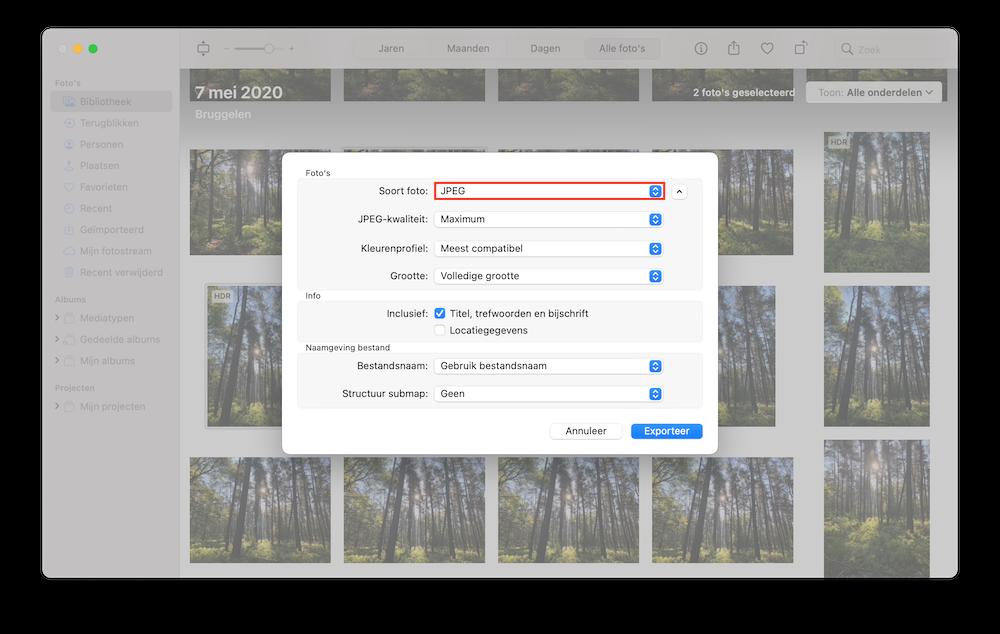 structuur-foto-exporteren-mac