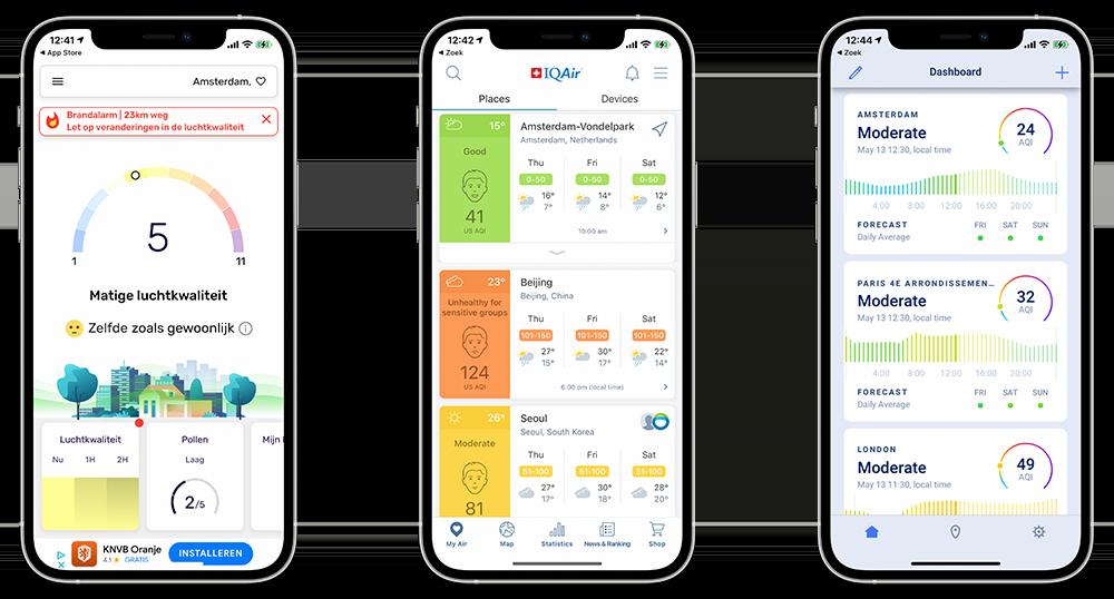 Luchtkwaliteit-apps voor iPhone