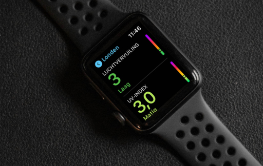 Luchtkwaliteit in Londen op de Apple Watch