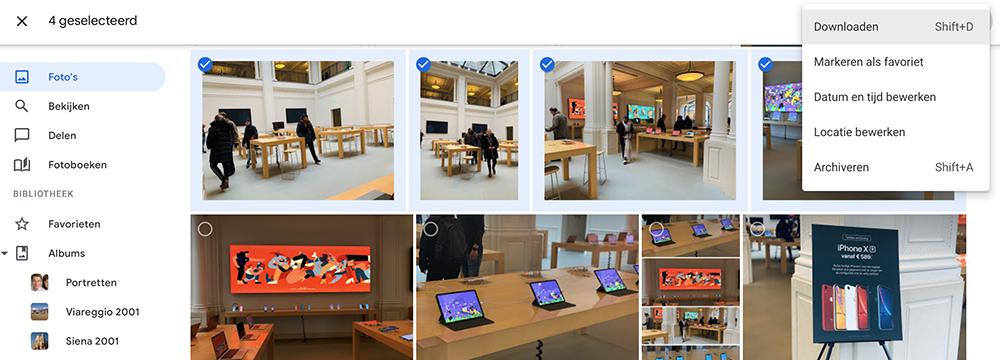 Google Foto's downloaden