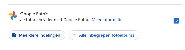 Google Fotos exporteren