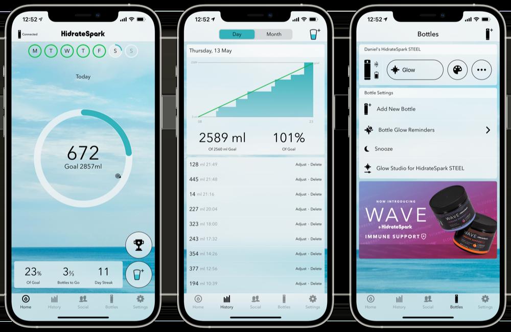 Hidrate app gebruiken