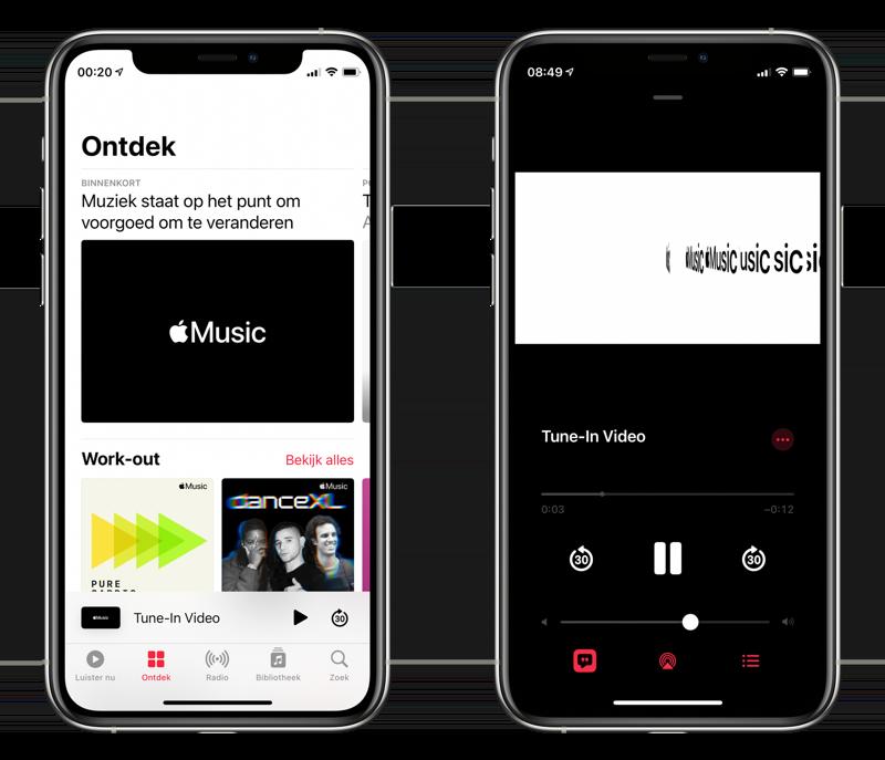 Apple Music aankondiging teaser in een video.