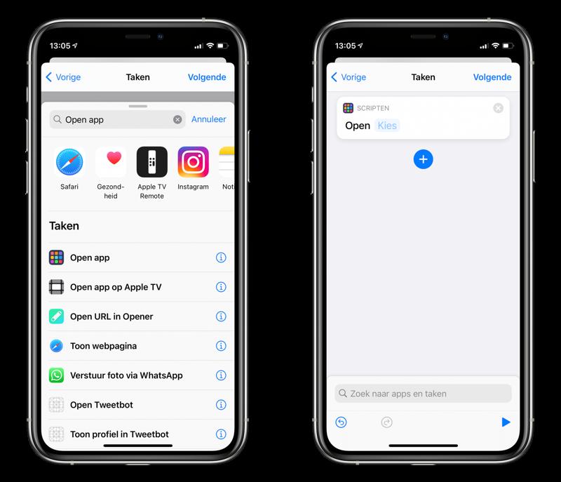 Open app automatisering via een AirTag met NFC.
