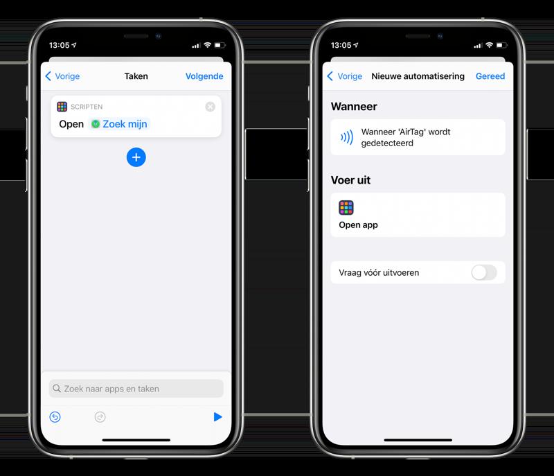 Open app via NFC via de AirTag.