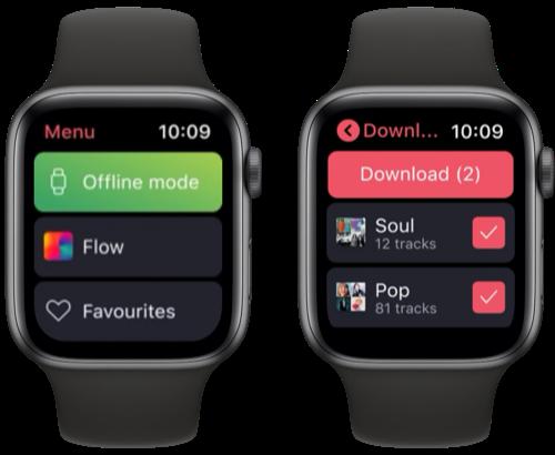 Deezer op Apple Watch: luister offline naar muziek.