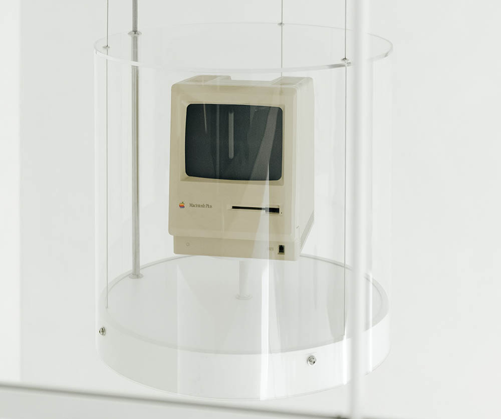 Macintosh Plus in het Apple Museum