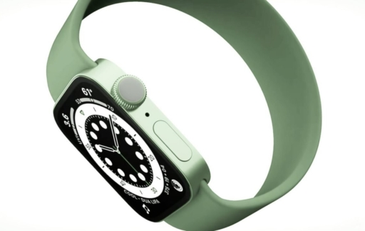 Apple Watch Series 7 in groen