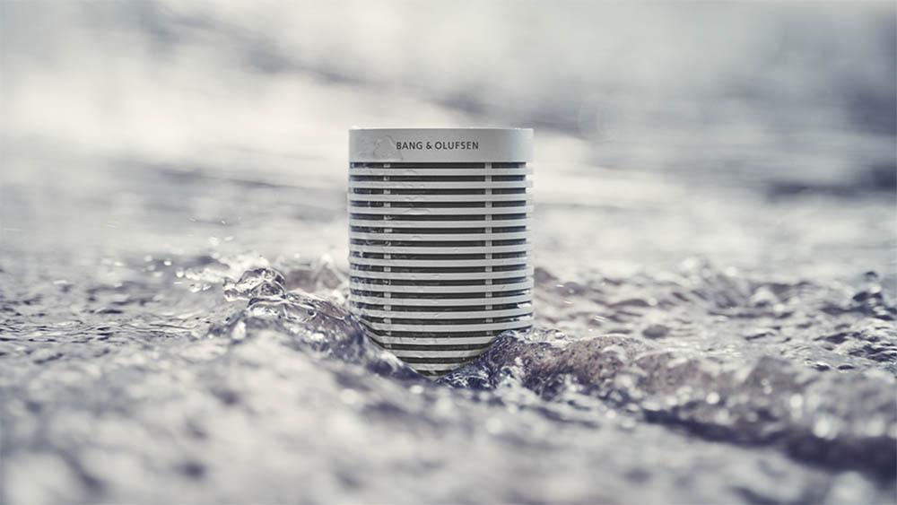 Beosound Explore speaker in water