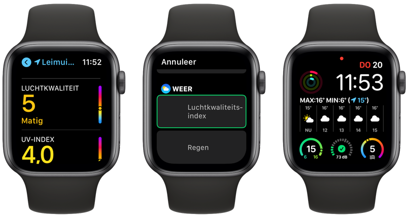 Luchtkwaliteit op Apple Watch in Nederland in watchOS 7.6.
