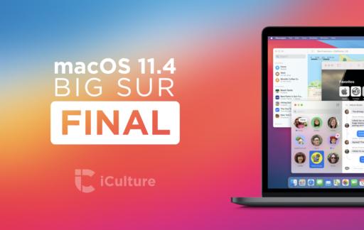 macOS Big Sur 11.4 Final.