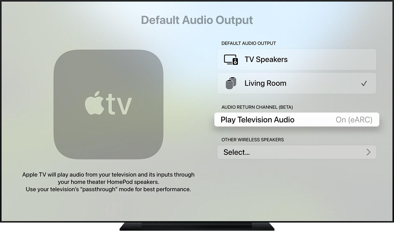 Apple TV met ARC in combinatie met de HomePod.