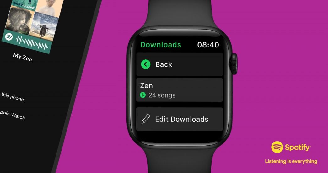 Spotify Apple Watch offline muziek.
