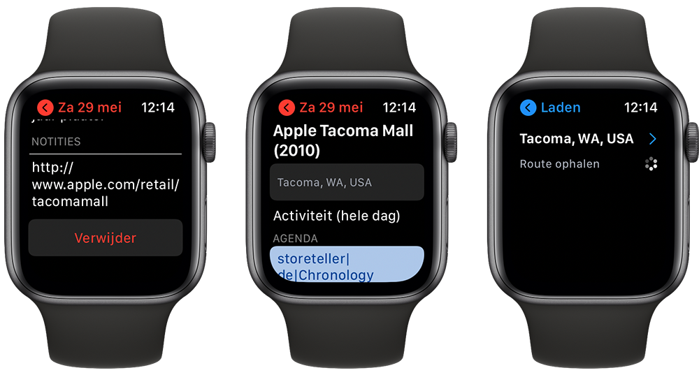 Agenda op Apple Watch
