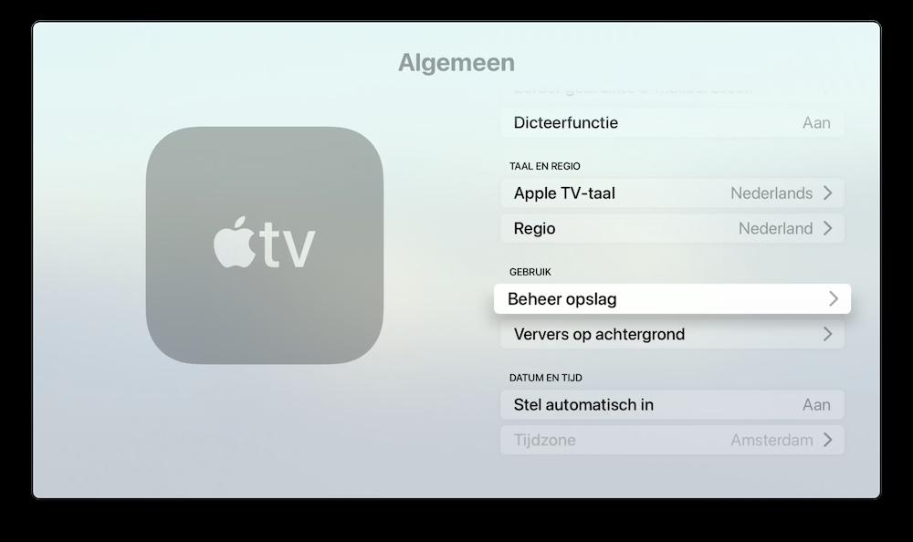 beheer-opslag-apple-tv
