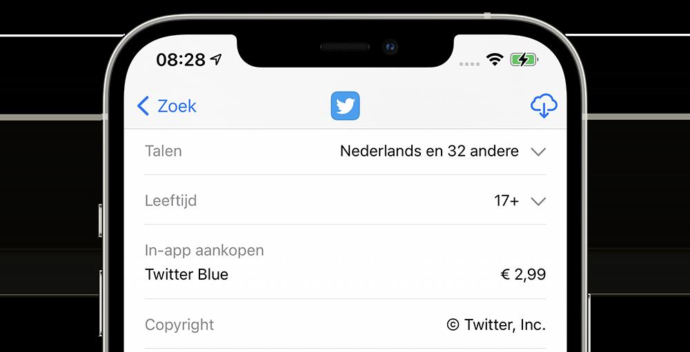 Twitter Blue betaald