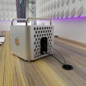 Mac Pro mini concept van de zijkant