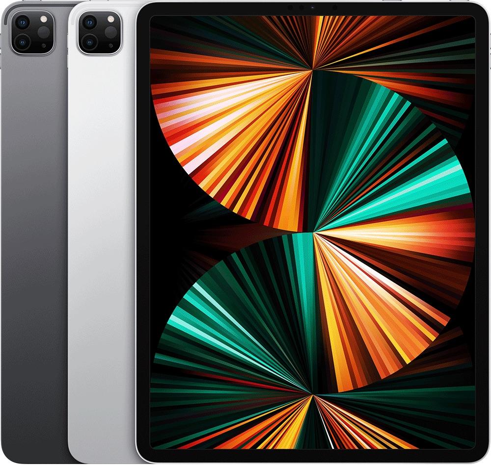 iPad Pro 2021 12,9-inch in meerdere kleuren.