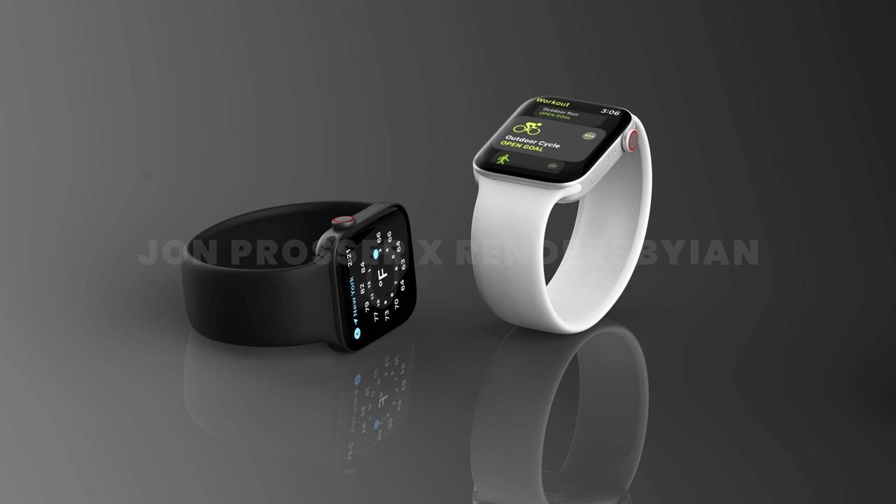 Apple Watch Series 7 renders in spacegrijs en zilver.