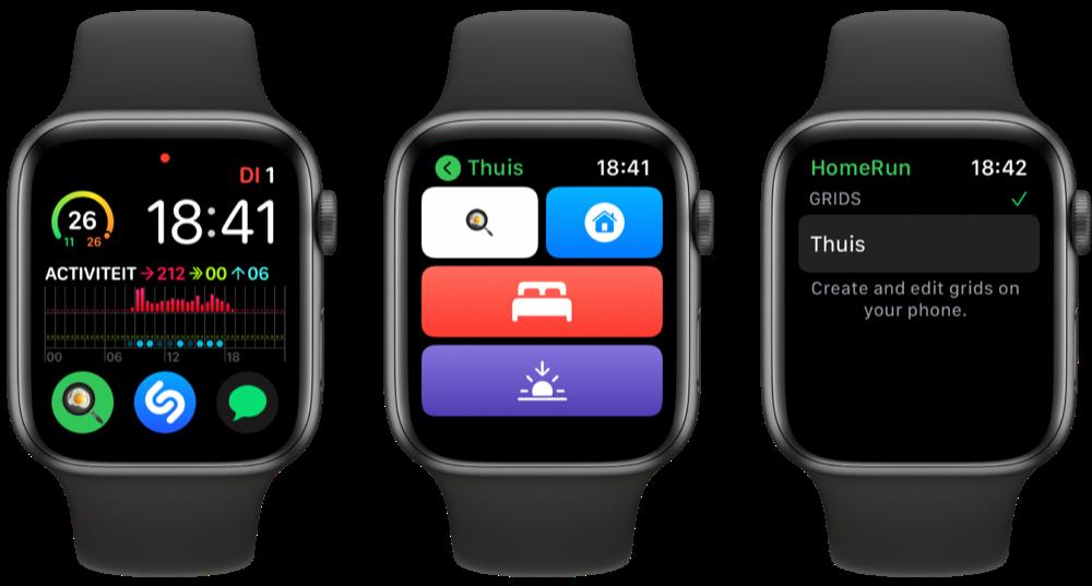 HomeRun 2 op Apple Watch.