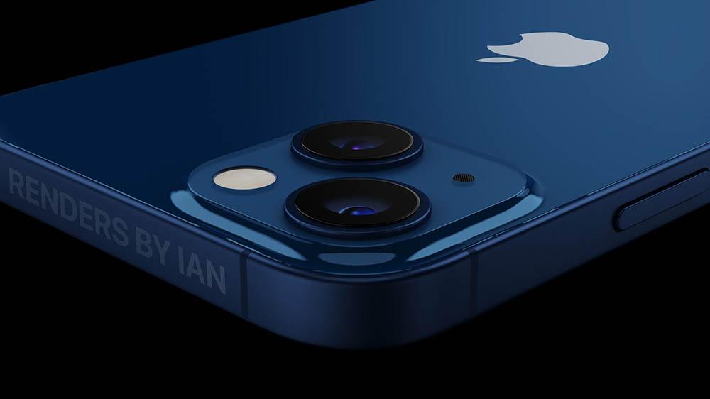 iPhone 13 render donkerblauw