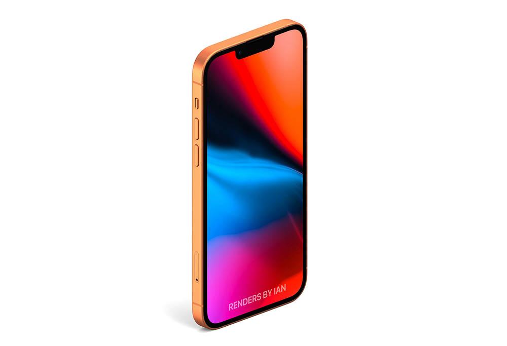 iPhone 13 render oranje