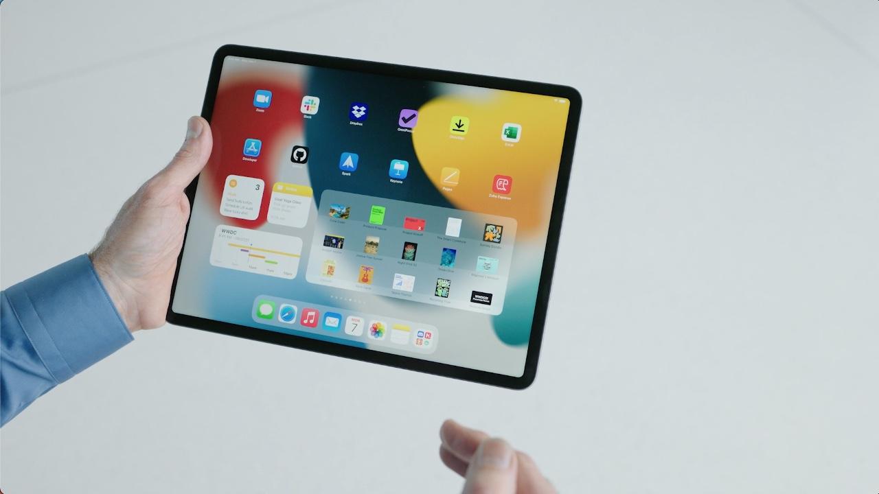 Widgets op iPadOS 15