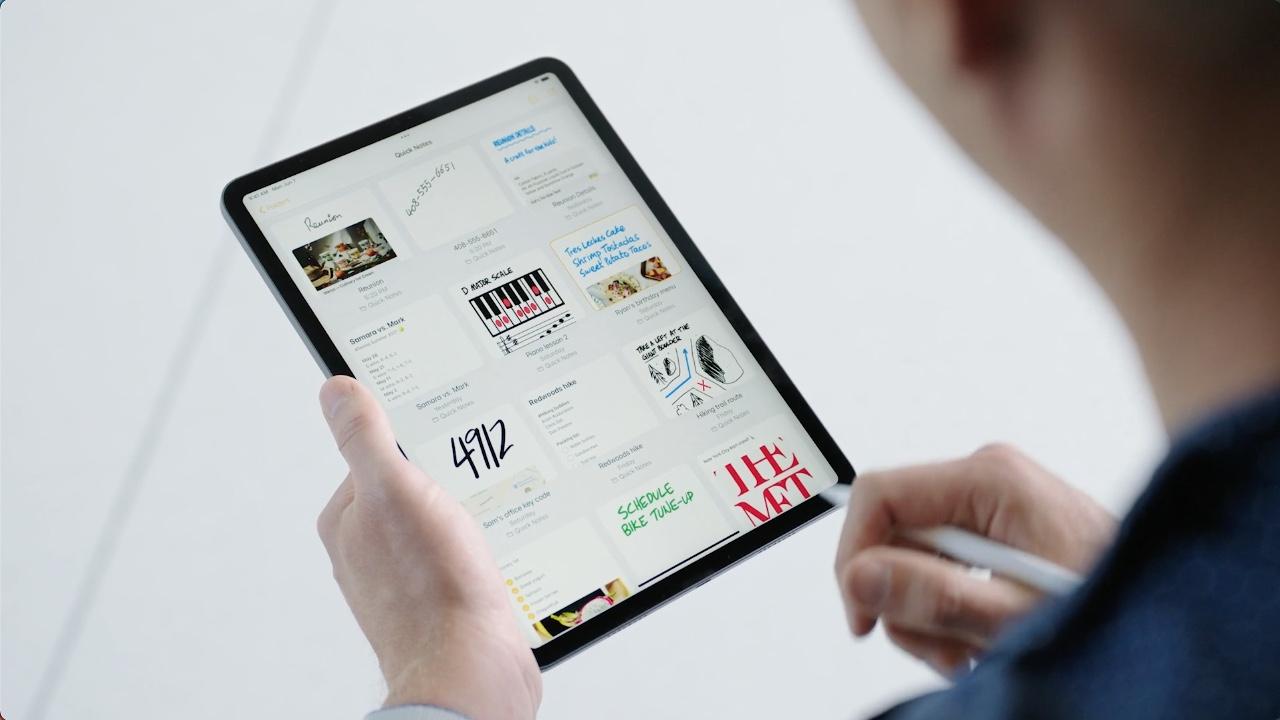 Quick Note op iPad in iPadOS 15.