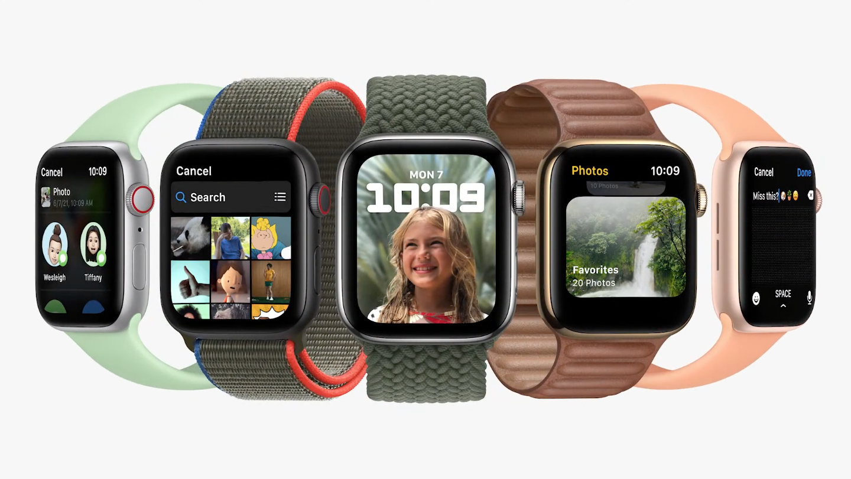watchOS 8 op Apple Watches