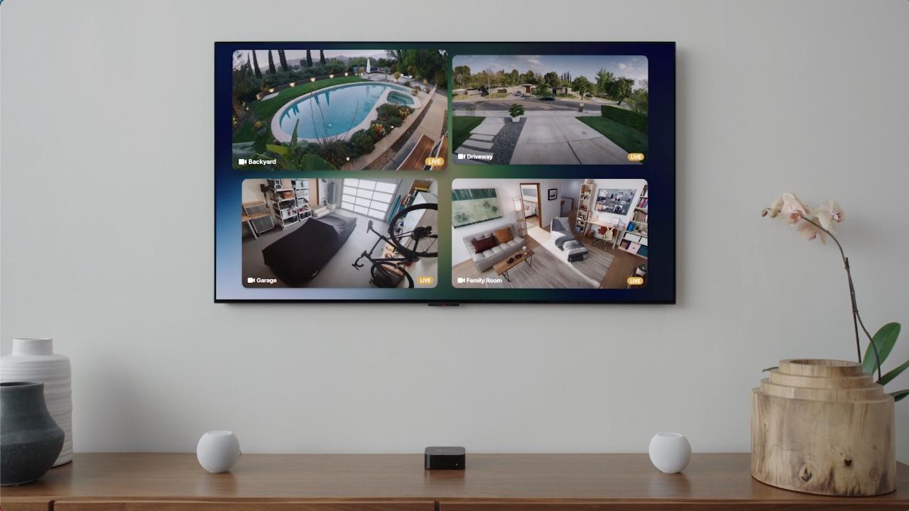 Alle camera's bekijken vanaf Apple TV met tvOS 15