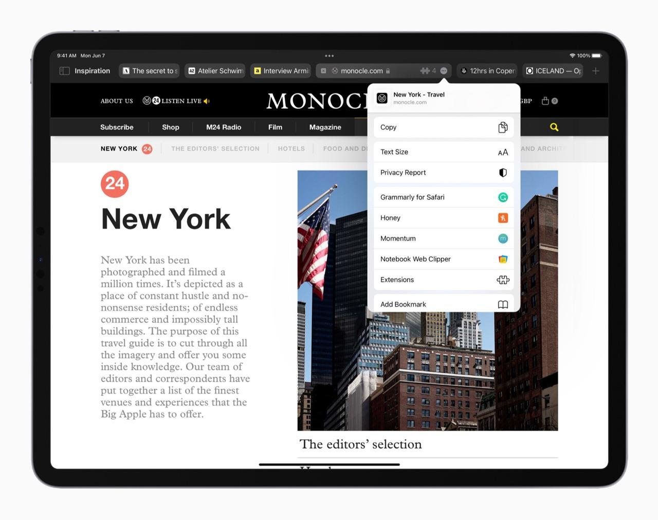 Safari extensies op iPadOS 15