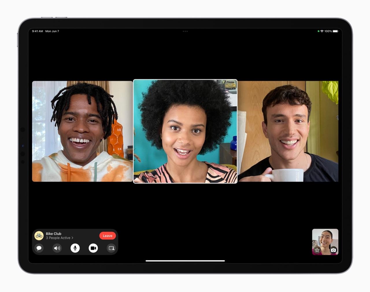 FaceTime groepen iPadOS 15